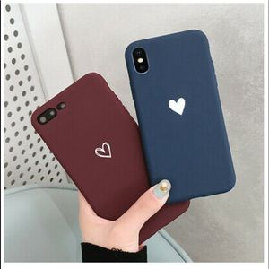 Matte Heart Slim Case Protective Phone Cover
